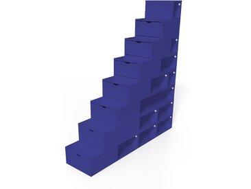 Escalier Cube de rangement hauteur 200 cm  Bleu foncé