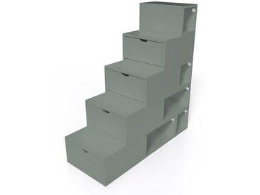 Escalier Cube de rangement hauteur 125 cm  Gris