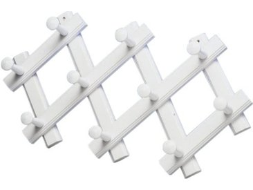Porte manteaux bois accordeon  Blanc