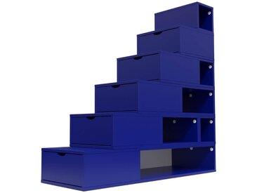 Escalier Cube de rangement hauteur 150cm  Bleu foncé