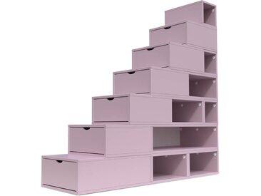 Escalier Cube de rangement hauteur 175 cm  Violet Pastel