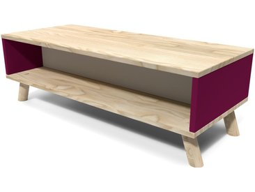 Table Basse Scandinave rectangulaire Viking Prune et Gris souris  Prune, Gris souris