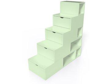 Escalier Cube de rangement hauteur 125 cm  Vert Pastel