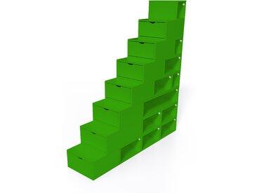 Escalier Cube de rangement hauteur 200 cm  Vert