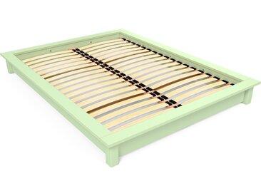 Lit futon Solido bois Massif - 2 places 140x200cm Vert Pastel