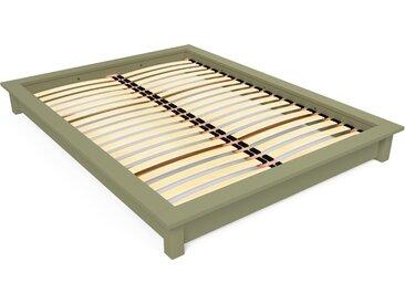 Lit futon Solido bois Massif - 2 places 140x200cm Taupe