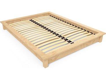 Lit futon 2 places bois massif Solido 140x190cm Miel