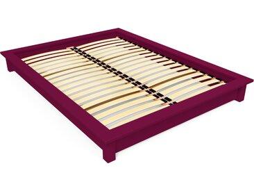 Lit futon Solido bois Massif - 2 places 160x200cm Prune