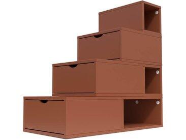Escalier Cube de rangement hauteur 100 cm  Chocolat