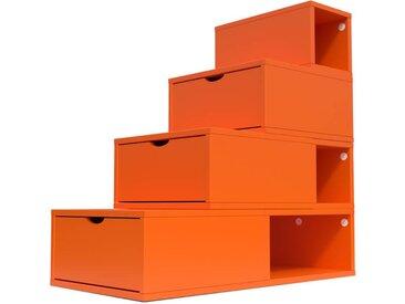Escalier Cube de rangement hauteur 100 cm  Orange