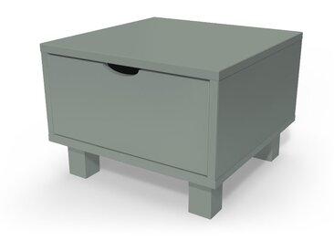 Chevet cube tiroir bois  Gris