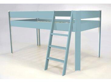 Lit Compact surélevé enfant 90x190cm Bleu Pastel