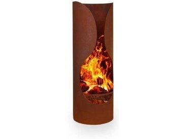 Blumfeldt Verdon Rust Braséro cheminée de jardin acier ignifuge aspect rouille