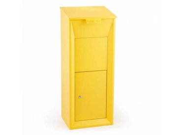 Waldbeck Postbutler Packetbox Boîte aux lettres paquets taille standard - jaune