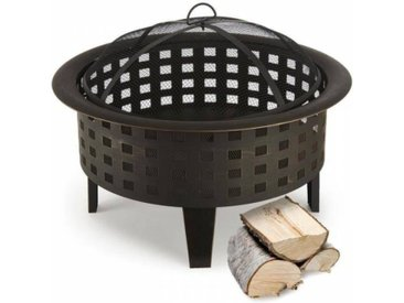Blumfeldt Boston Braséro jardin chauffage exterieur barbecue Ø 70cm acier noir