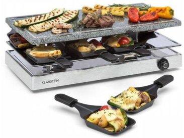 Klarstein Gourmette Appareil à raclette pour 8 grill pierre naturelle 1200W inox