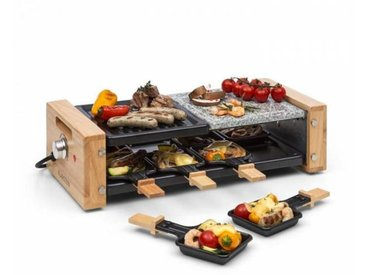 Klarstein Chateaubriand Nuovo Appareil à raclette pour 8 grill 1200W pierre & in