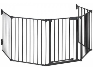 OneConcept Grillage de protection pour cheminée barrière 3m métal - noir