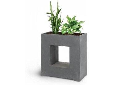 Blumfeldt Airflor Bac à fleurs 70 x 70 x 27 cm fibre de verre - gris foncé