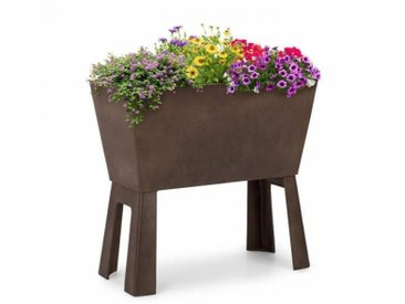 Blumfeldt Mammutgrow Flex potager surélevé 75 x 70 x 35 cm protection anti UV et gel marron