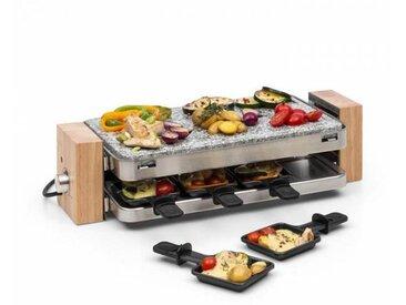 Klarstein Prime-Rib Appareil à raclette pour 8 grill 1500W pierre naturelle & in