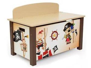 Coffre à jouets pour enfant motif pirates