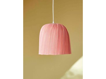 Suspension bambou forme cloche rose