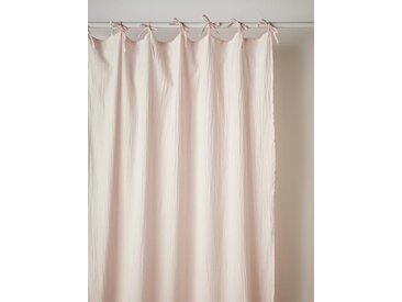 Rideau en gaze de coton rose pâle