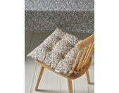 Coussin de chaise en tissu indien par lot de 2 fleuri rose/bleu