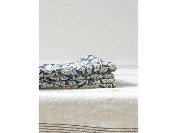 Serviette de table indienne par lot de 4 imprimé fleuri bleu