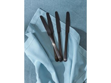 Couteau en métal mat par lot de 4 noir mat
