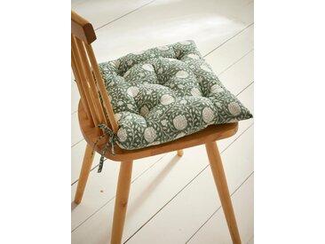 Coussin de chaise tissu indien fleuri vert