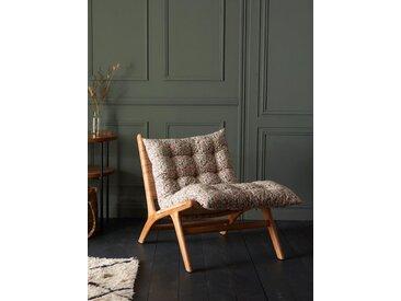 Matelas futon tissu indien fleuri rose/bleu