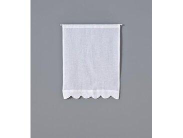 Brise bise en lin festonné blanc