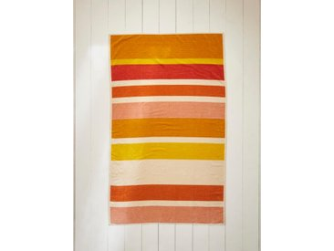 Drap de plage rayé coton velours multicolore