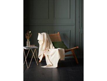 Plaid coton gaufré ivoire