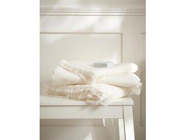 Serviette de toilette nid d'abeille ivoire