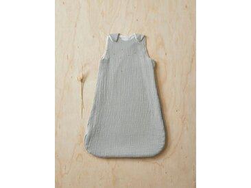 Gigoteuse légère gaze de coton bio broderie dorée gris clair