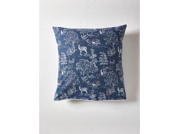 """Taie d'oreiller coton """"Forêt Jouy"""" bleu"""