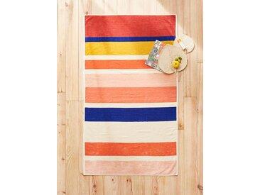 Drap de plage coton velours rayé multicolore