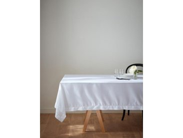 Nappe anti-taches aspect lin blanc