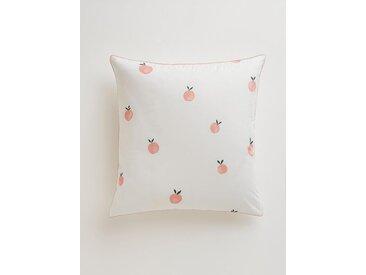"""Taie d'oreiller coton """"Peach"""" imprimé pêche"""