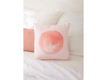 Housse de coussin coton/lin rose