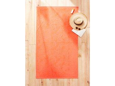 Drap de plage coton velours rose