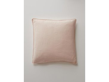 "Taie d'oreiller en lin lavé ""Cocoon"" rose nude"