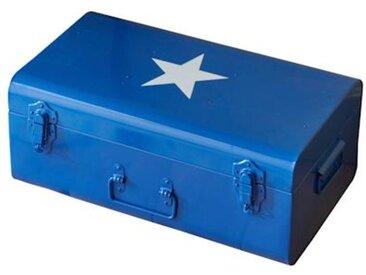 Malle en métal bleu