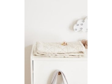 Plaid bébé rayé ivoire/rayé bleu