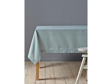 Nappe anti-taches aspect lin bleu nuage