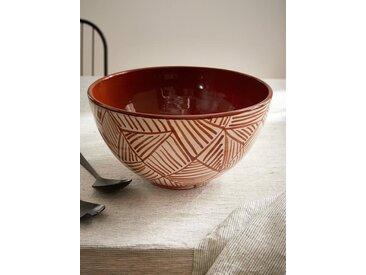 Saladier tunisien en céramique terracotta