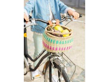 Panier à vélo enfant en paille naturel